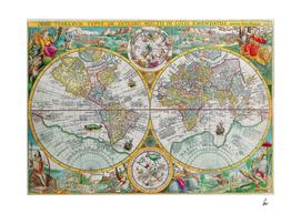 Beautiful Illustrated World Map