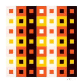 Geometric Pattern #74 (Stripes & Squares)