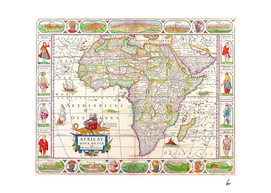 Africa Map 1652 Illustrated
