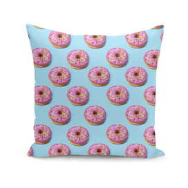 Flat lay donuts seamless pattern