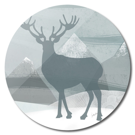 sillhouette stag