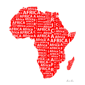 Map of continent Africa -  illustration