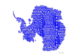 Map of continent Antarctica - illustration
