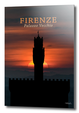 Graphic Silhouette Florence Poster