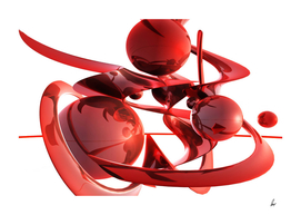 Red Chrome Spheres
