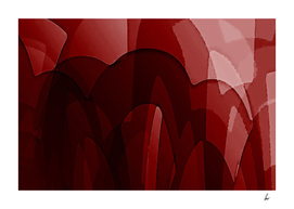 Red Rainbows Abstract