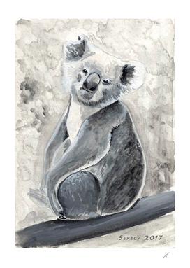 Sweet Koala - watercolor painting
