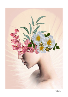 lady with flowers (portrait)