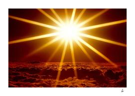 Stunning Golden Sun Flare