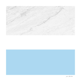 marble white aqua-blue stripes