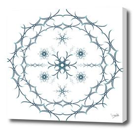 Mandala floral blue and white