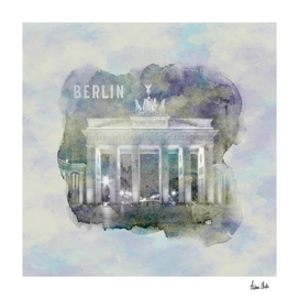 BERLIN Brandenburg Gate | watercolor