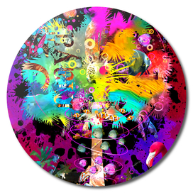 TieDye Palm Tree