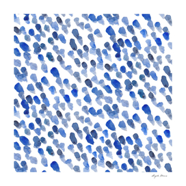 Imperfect brush strokes - blue