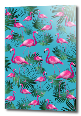 Summer Flamingo Palm Vibes #2