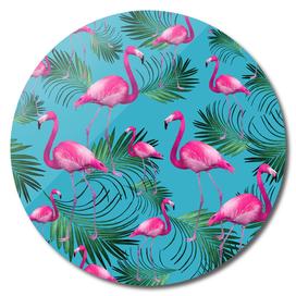 Summer Flamingo Palm Vibes #2