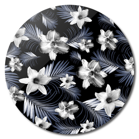 Tropical Flowers Palm Leaves Finesse #4