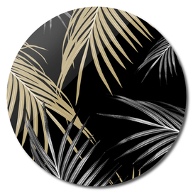 Gold Gray Palm Leaves Dream #1