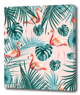 Tropical Flamingo Pattern #3