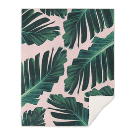 Tropical Blush Banana Leaves Dream #1