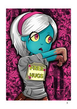 The Walking Dead Free Hugs Zombie Girl