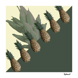 Pineapples All Lined Up (green)
