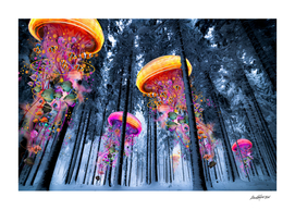 Forest of Electric Jellyfish in Witer