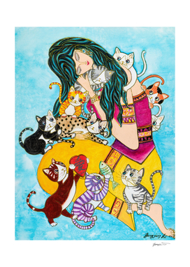 Cindy and Her Ten Cats