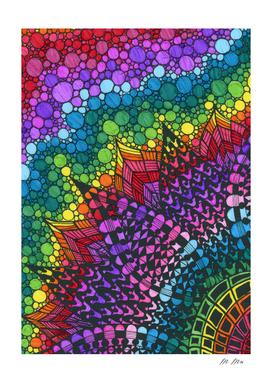 rainbow doodling