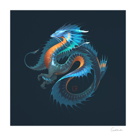 Blue water dragon 2.0 by GaudiBuendia