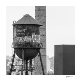 Water tower in Brooklyn