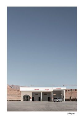Gas Station in the middle of the desert