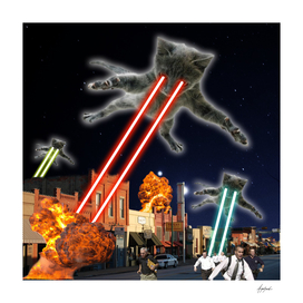 Cats Invasion  Attack Cosmos Space