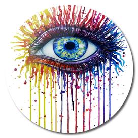 Colorful eye