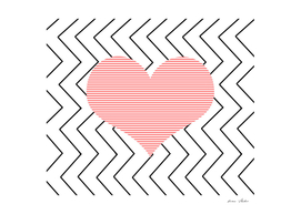 Heart - zigzag - pink.