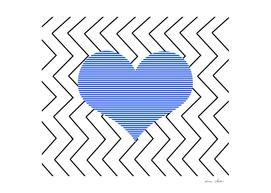 Heart - zigzag - blue.