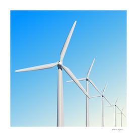 Wind turbine illustration.