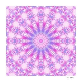 Pale Pink Magenta and Purple Mandala