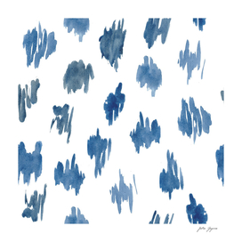 Abstract watercolor brush stroke white navy