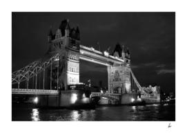 London Tower Bridge Black & White