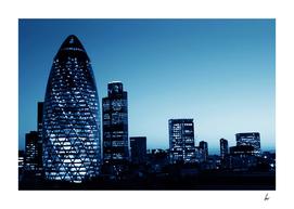 London Gherkin Blue Skies