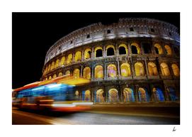 Rome Colosseum Lights