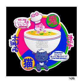 Toony Things ™ Neko and Usagi Soup Bowl Chefs By TevJokah