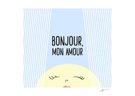 Bonjour Mon Amour Blue #babyboy #nursery #babyshower