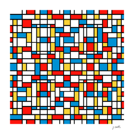 Mondrian design, abstract pattern