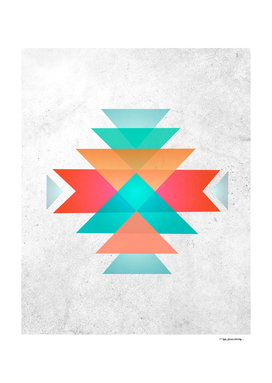 Abstract geometric indigenous symbol