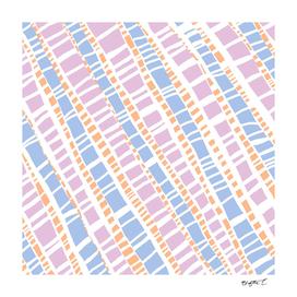 Delicate Pastel Lines Pattern
