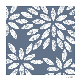 Marbled Grey Flowers Pattern