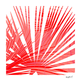 Tropical Flashy Fan Palm Leaves Abstract Design