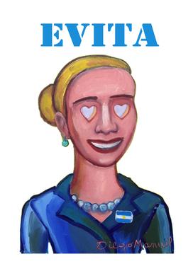 Evita with hearts 3
